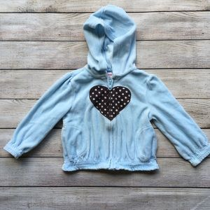 Gymboree Blue Heart ❤️ Zip Up Sweatshirt